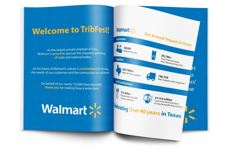 Walmart TribFest magazine