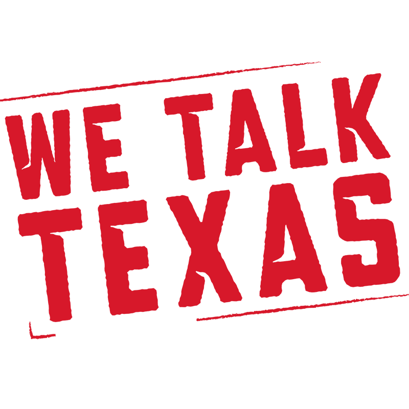 We Talk Texas stamp graphic